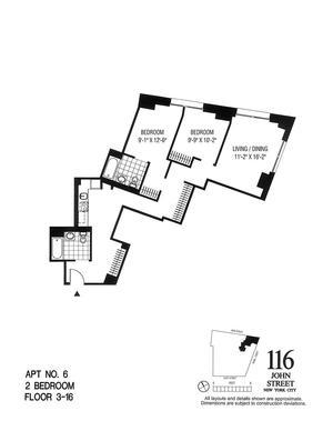 floorplan for 116 John Street #1206