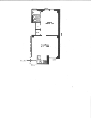 floorplan for 49 West 72nd Street #5E