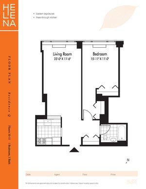 floorplan for 601W 57th Street #10Q