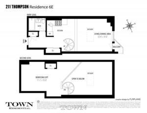 floorplan for 211 Thompson Street #6E