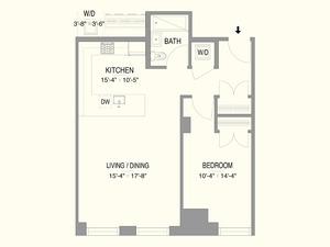 floorplan for 55 West 17th Street #402