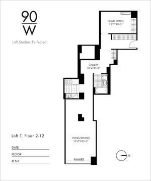 floorplan for 90 Washington Street #6T