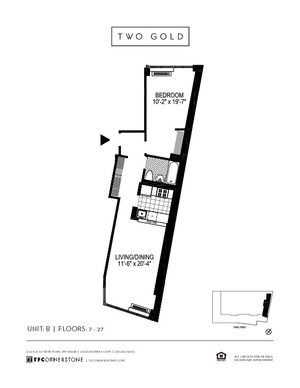 floorplan for 2 Gold Street #25B