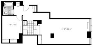 floorplan for 50 Murray Street #019