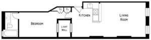floorplan for 229 East 89th Street #4FW