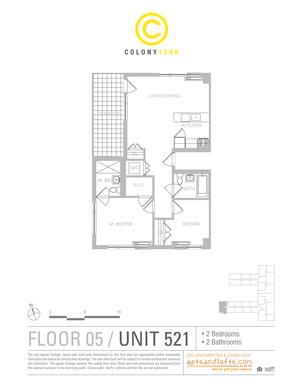 floorplan for 1209 Dekalb Avenue #521