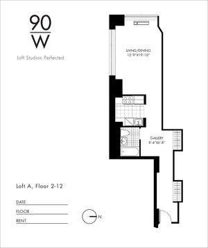 floorplan for 90 Washington Street #5A