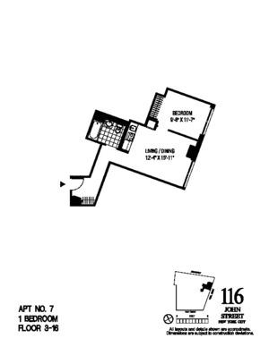 floorplan for 116 John Street #407