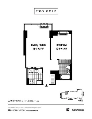 floorplan for 2 Gold Street #3111