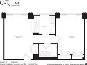 floorplan for 60 West 23rd Street #1132