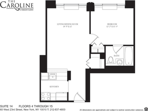 floorplan for 60 West 23rd Street #814