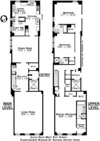 floorplan for 15 West 81st Street #67C