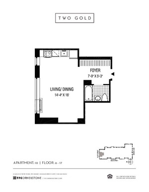 floorplan for 2 Gold Street #2211