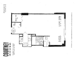 floorplan for 55 West 14th Street #17G