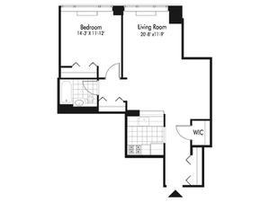 floorplan for 601 West 57th Street #3A