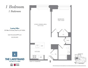 floorplan for 227 West 77th Street #16F