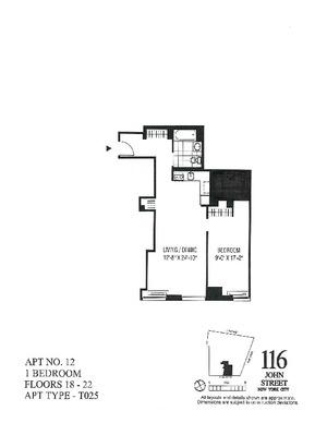 floorplan for 116 John Street #2012