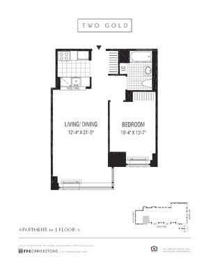 floorplan for 2 Gold Street #510