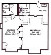 floorplan for 150 Central Park South #1006