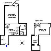 floorplan for 211 Thompson Street #4P
