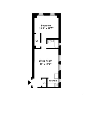 floorplan for 49 West 72nd Street #2B