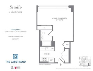 floorplan for 227 West 77th Street , #14D