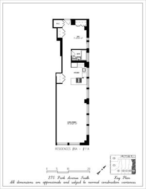 floorplan for 270 Park Avenue South #7A