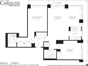floorplan for 60 West 23rd Street #1138