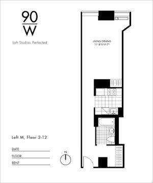 floorplan for 90 Washington Street #6M