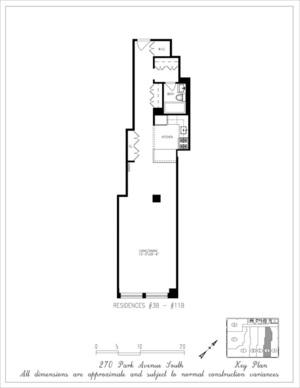 floorplan for 270 Park Avenue South #5B
