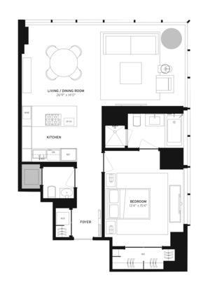 floorplan for 157 West 57th Street #37A