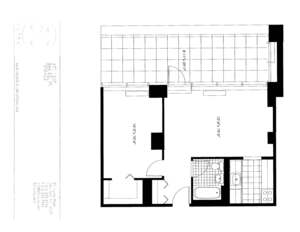 floorplan for 50 Murray Street #1807