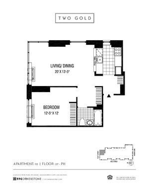 floorplan for 2 Gold Street #3310