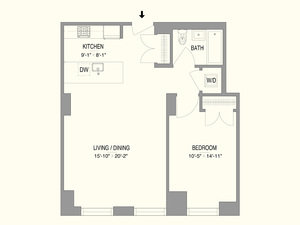 floorplan for 55 West 17th Street #302