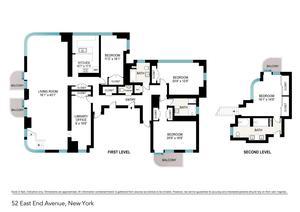 floorplan for 52 East End Avenue #15
