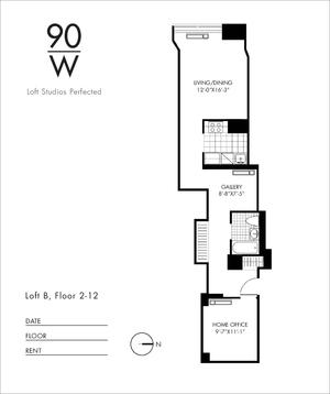 floorplan for 90 Washington Street #10B