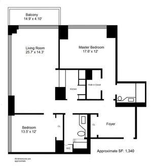 floorplan for 422 East 72nd Street #8E