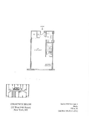 floorplan for 55 West 14th Street #17F