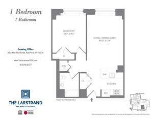 floorplan for 227 West 77th Street #17C