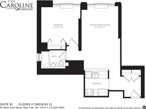 floorplan for 60 West 23rd Street #1050