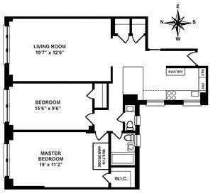 floorplan for 30 West 90th Street #8B