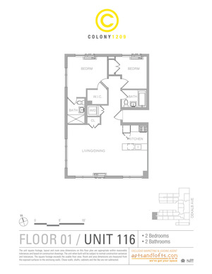 floorplan for 1209 Dekalb Avenue #1162
