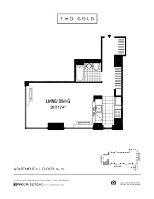 floorplan for 2 Gold Street #1809