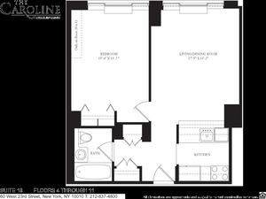 floorplan for 60 West 23rd Street #519