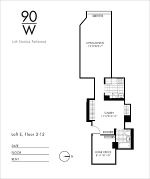 floorplan for 90 Washington Street #11V