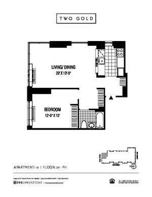 floorplan for 2 Gold Street #3710