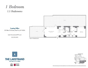 floorplan for 227 West 77th Street #18B