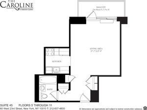 floorplan for 60 West 23rd Street #945
