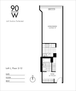 floorplan for 90 Washington Street #12L