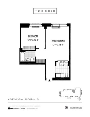 floorplan for 2 Gold Street #3313